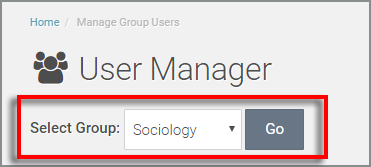 view of select group dropdown