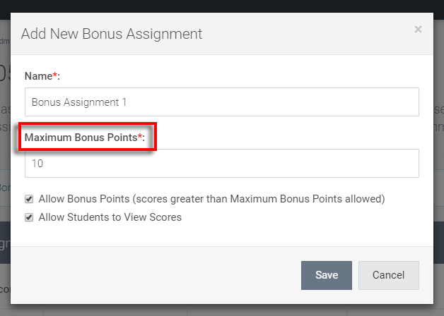 note the 'maximum bonus points' text change