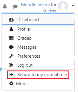 Return to Normal Role