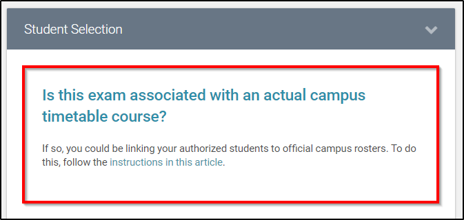 course in app not associated with campus course