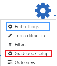 Select gradebook setup