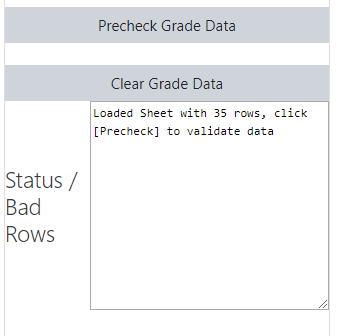 Status/bad rows