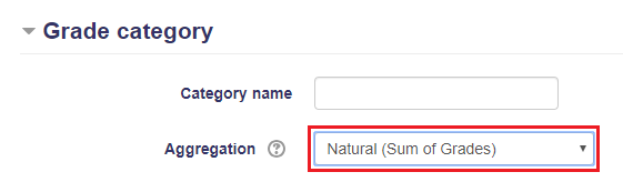 Natural sum of grades