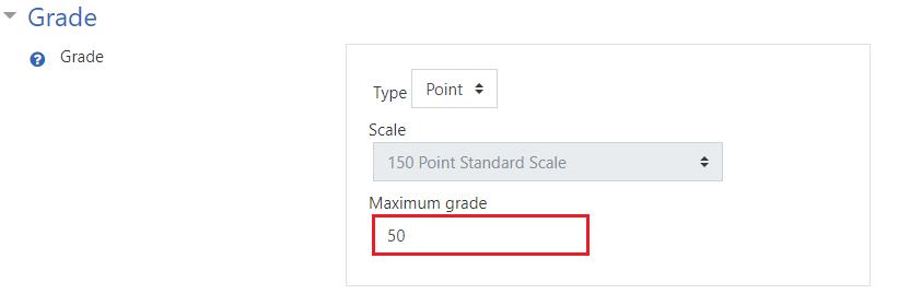 Edit maximum grade