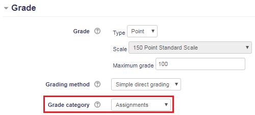Edit Grade Category