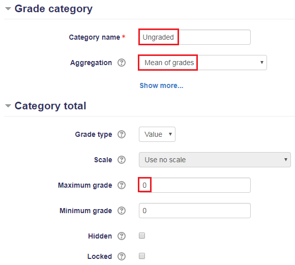 Add an Ungraded Category to the Gradebook