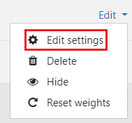 Select Edit Settings