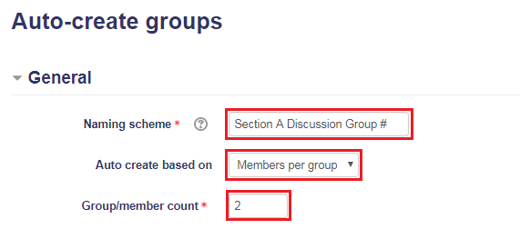 Auto-create groups: General