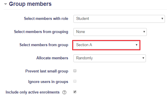 Auto-create groups: Group members