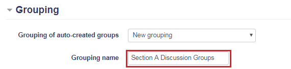 Auto-create groups: Grouping