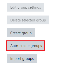 Auto create groups
