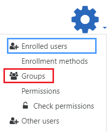 Select groups
