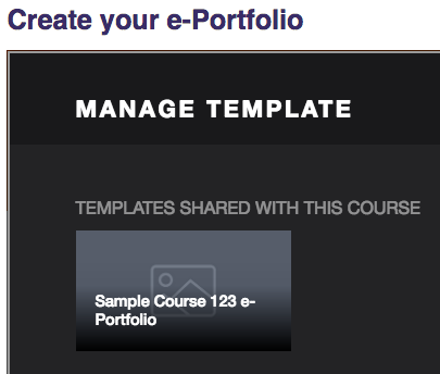 Templates shared with this course