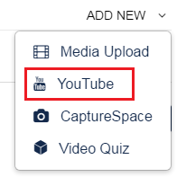 ADD NEW YouTube video option pic