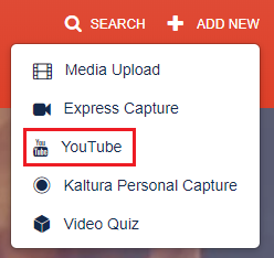 Select YouTube
