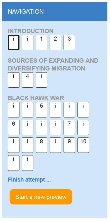 Navigation block after adding headings