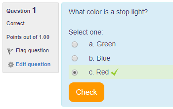 Showing that the answer is correct