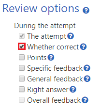 Review whether correct