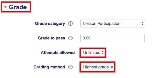 Unlimited, Highest grade