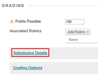 Click Submission Details