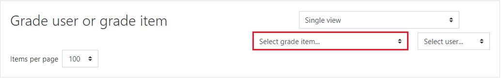 Select grade item