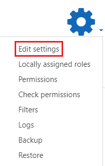 Edit settings