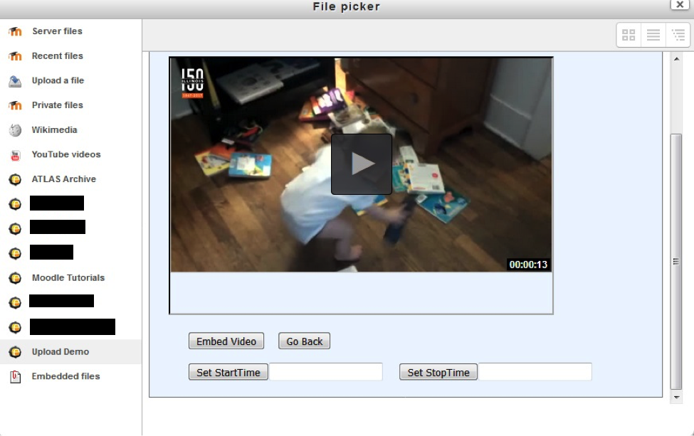 Click Embed Video