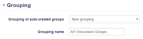 Grouping of auto-created groups