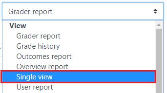 Select Single view