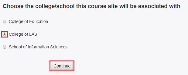 Choose the college/school