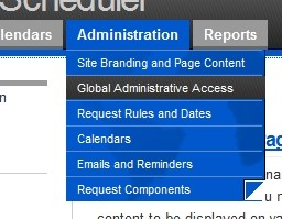 Hover over 'Administration' and click 'Global Administrative Access'