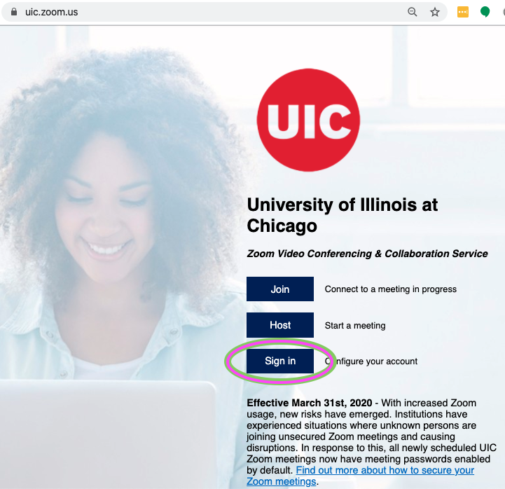UIC Zoom Web Log In