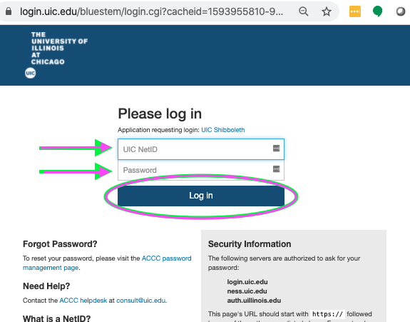 Bluestem Authentication to UIC services