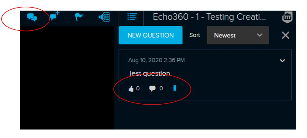 Echo360 Discussion screenshot