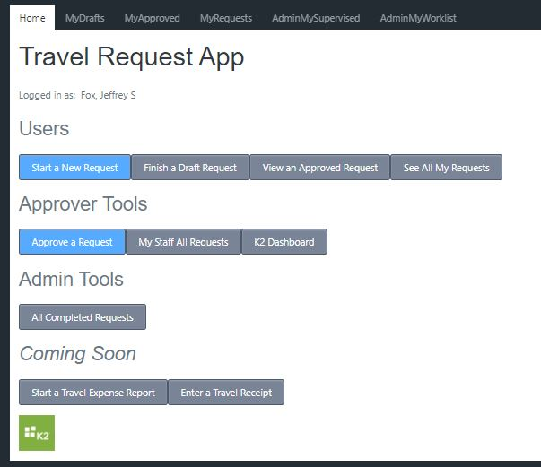 Screenshot Travel Navigation screen