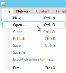 File Open option