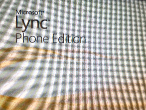 Microsoft Lync Phone Edition welcome screen